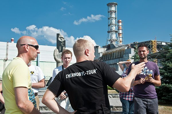 Katasztrófa turisták a csernobili atomerőműnél