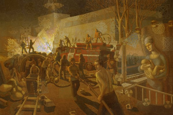 A grafittűz oltását az első órákban még védőfelszerelés nélkül végezték.