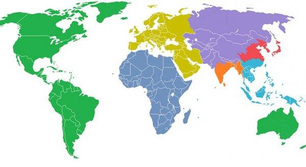 az emberiség népességének eloszlása