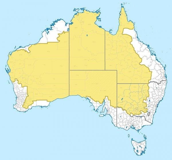 ausztrál népesség térkép