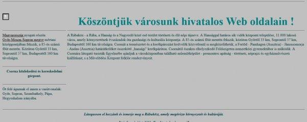 első magyar weboldal