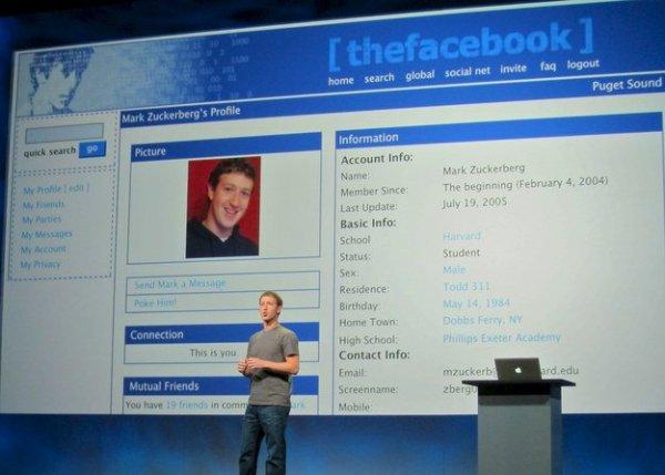 első Facebook profil