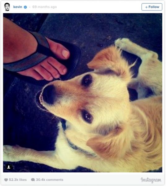 első kép az Instagramon