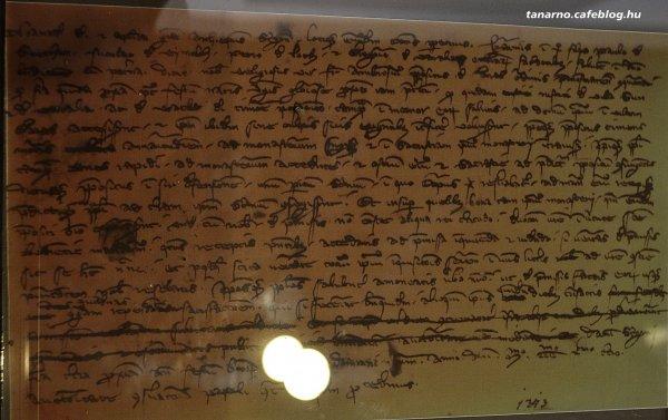 Török levél Hollókőn