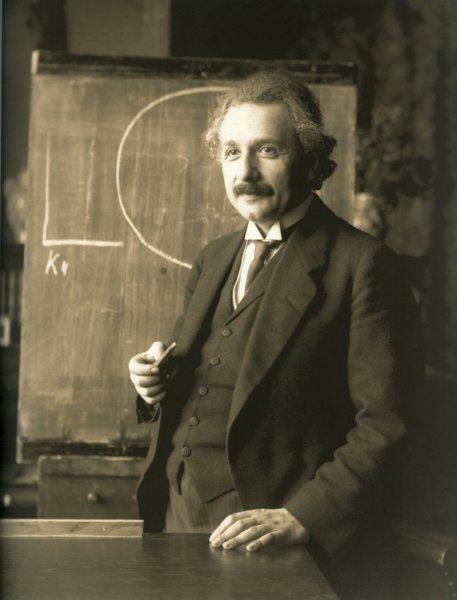 Albert Einstein a katedrán