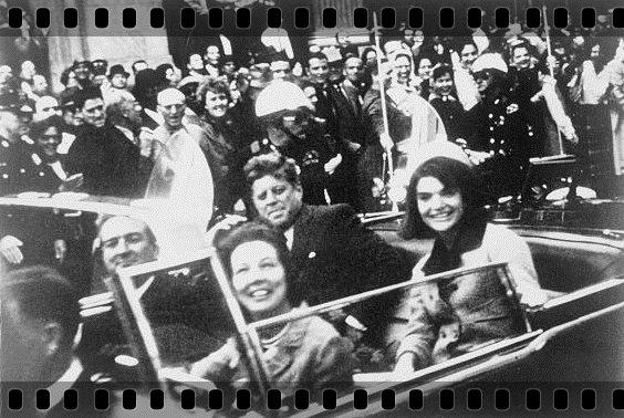 John F. Kennedy az autóban